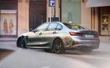 BMW 3 Series 330e hybrid 2019 first drive review - hero rear