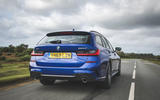 BMW 3 Series Touring 320d 2019 UK first drive review - hero rear