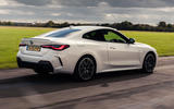 BMW 4 Series 420d 2020 UK first drive review - hero rear