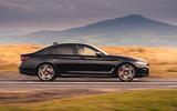 BMW 5 Series M550i 2020 UK first drive - hero side