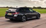 2 BMW 5 Series Touring 530d 2021 UK FD hero rear