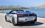 BMW i8 Roadster 2018 first drive review hero rear