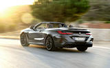 BMW M8 Competition Convertible 2019 first drive review - hero rear