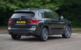 BMW X3 M40i 2018 UK review hero rear
