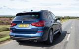 BMW X3 xDrive30e 2020 UK first drive review - hero rear