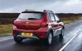 Dacia Sandero Stepway Techroad 2019 first drive review - hero rear