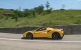 Ferrari 488 Pista Spider 2019 first drive review - hero action side