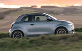 2021 Fiat 500 electric left-hand drive UK review - hero side