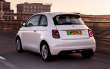 2 Fiat 500e Action 2021 UK FD hero rear
