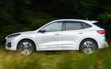 2 Ford Kuga Ecoblue MHEV 2021 UK first drive hero side