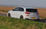 Hyundai i30 N 2018 UK review hero rear