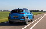 Hyundai Kona Hybrid 2019 first drive review - hero rear