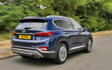 Hyundai Santa Fe 2018 UK first drive review - hero rear