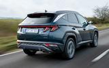 Hyundai Tucson 2020 UK first drive review - hero rear