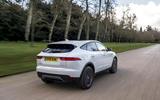 Jaguar E-Pace D150 2018 review on the road rear