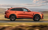 2 Jaguar F Pace SVR 2021 UK first drive review hero side