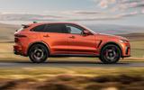 2 Jaguar F Pace SVR 2021 UK first drive review hero side