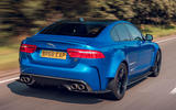 Jaguar XE SV Project 8 Touring 2019 UK first drive review - hero rear
