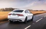 2 Jaguar XF 2021 UK first drive review hero rear