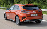 2 Kia Ceed GT Line 2021 facelift first drive tracking rear
