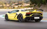 Lamborghini Aventador SVJ 2018 first drive review hero rear