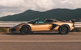 Lamborghini Aventador SVJ Roadster 2019 first drive review - hero side