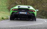 Lamborghini Huracan EVO RWD 2020 UK first drive review - hero rear