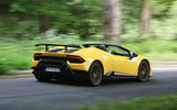 Lamborghini Huracan Performante Spyder 2018 UK review hero rear