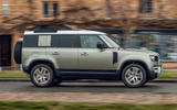Land Rover Defender 110 2020 UK first drive review - hero side