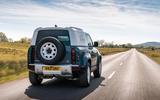 2 Land Rover Defender Hard Top Commercial 90 UK FD hero rear