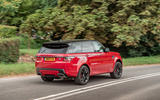 Land Rover Range Rover Sport HST 2019 UK first drive review - hero rear