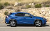 Lexus UX300e 2020 UK first drive review - hero side