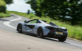 McLaren 570S Spider Track Pack 2018 UK review hero rear