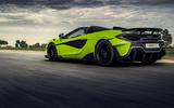 McLaren 600LT Spider 2019 first drive review - hero rear