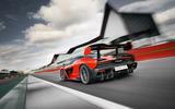 McLaren Senna 2018 UK first drive review track rear