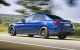 Mercedes-AMG C63 2018 first drive review hero rear