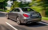 Mercedes-Benz C-Class C200 AMG Line 2018 UK review hero rear