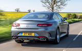 Mercedes-Benz S560 Coupe 2018 UK review hero rear