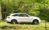 Mercedes-Benz EQC 400 2019 UK first drive review - tracking side