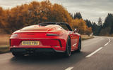 Porsche 911 Speedster 2019 UK first drive review - hero rear
