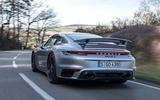 Porsche 911 Turbo S 2020 first drive review - road rear