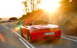 Porsche Boxster T 2019 first drive review - hero rear