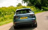 Porsche Cayenne 2018 UK first drive review hero rear