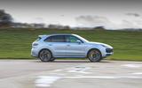 Porsche Cayenne Turbo S E-Hybrid 2020 UK first drive review - hero side