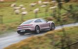 2 Porsche Taycan RWD 2021 UK first drive review hero rear