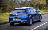Renault Megane Sport 2020 UK first drive review - hero rear
