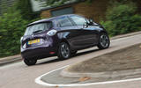 Renault Zoe R110 2018 UK first drive review hero rear