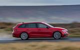 Skoda Octavia vRS Estate 2020 UK first drive review - hero side