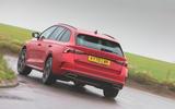 Skoda Octavia vRS iV 2020 UK First drive - hero rear