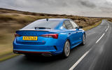 Skoda Octavia vRS TDI 2021 UK first drive review - hero rear